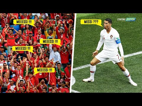 Momen Ketika Cristiano Ronaldo Membungkam Nyanyian 'Messi' - Balas Dendam Ronaldo