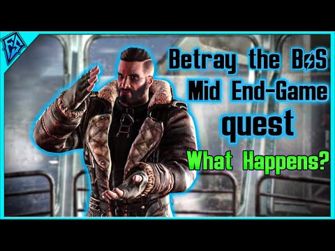 Fallout 4 Quickie | Betraying The Brotherhood of Steel Mid End-Game Quest | What Happens?