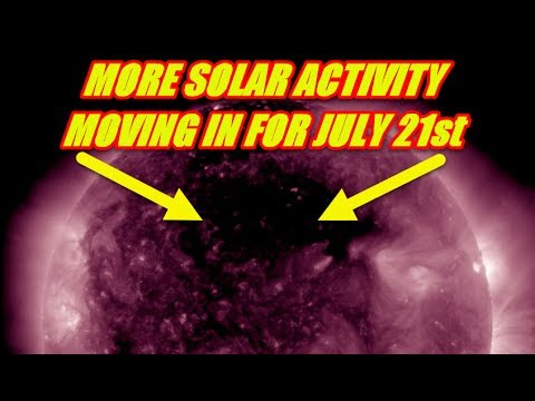 THE SUN - MORE SOLAR ACTIVITY MOVING IN BY JULY 21st 2017