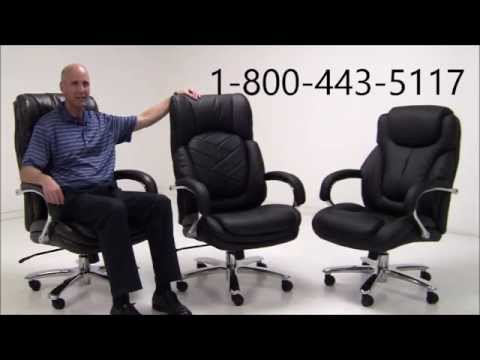 500 Lbs. Capacity Leather Executive Big & Tall Chair