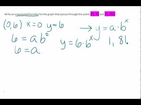 How do you find an exponential function given the points are (-1,8) and (1,2)?
