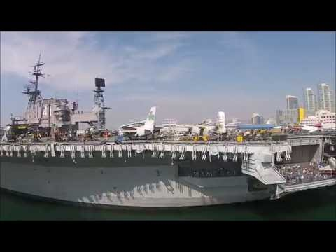 San Diego 2016 (Roller Coaster, USS Midway, Kissing Statue, Pacific Beach, White Church, ...)