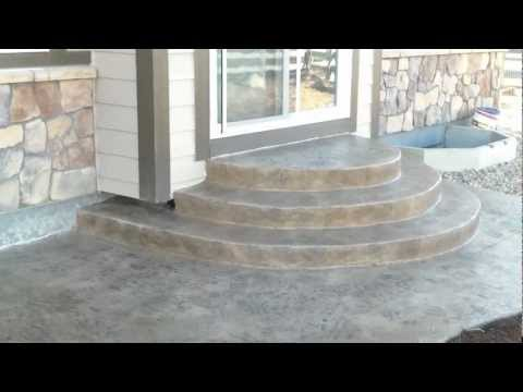 """Denver Concrete Contractor Installing Stamped Patio (Part 4) In Colorado """"The Final Reveal"""""""