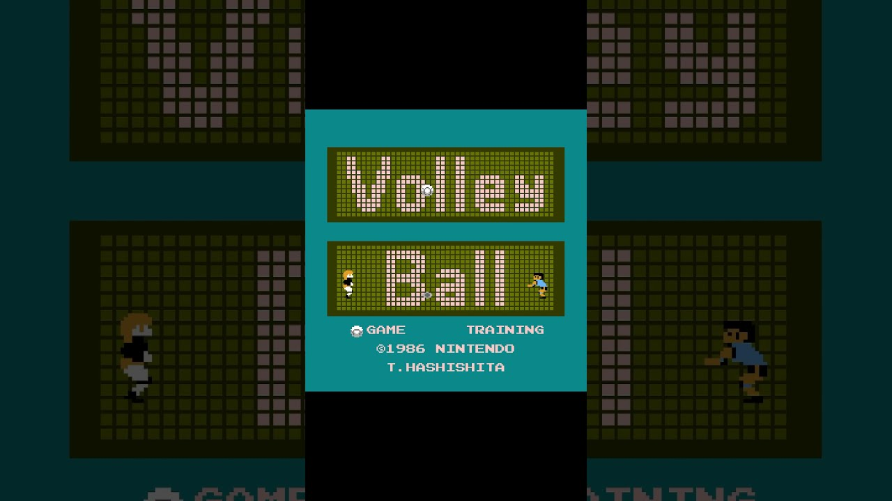 Volleyball 1986 Old NES Games #shorts