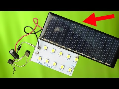 How to make automatic ON OFF rechargeable street light with solar panel