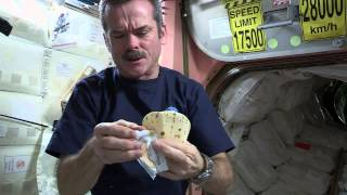 Making a Peanut Butter Sandwich in Outer Space | CSA ISS Science HD Video