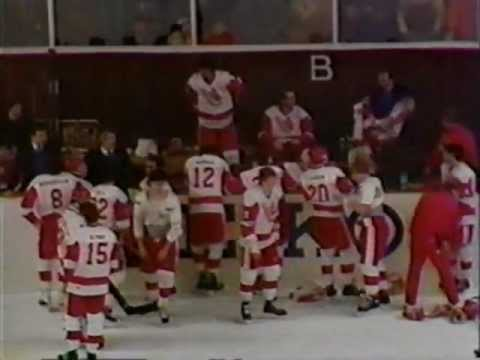 1987 Team Canada- Russia Punch-up in Piestany World Junior Championships brawl