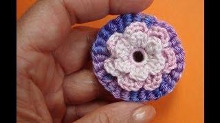 Как вязать цветок Урок 51 Crochet flower pattern for free(http://www.knittingforbeginners.ru/ каталог уроков вязания Как вязать цветок - закажи новые видео-уроки вязания: http://feedburner.go..., 2013-11-11T09:11:55.000Z)