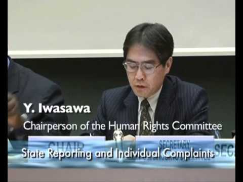 Excerpts from the 100th session of the United Nations Human Rights Committee - Part 1