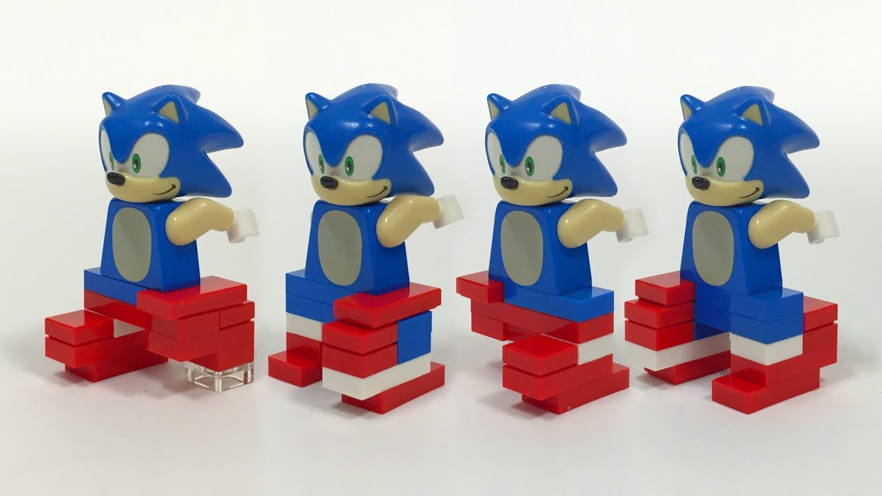 Brick Built Lego Sonic The Hedgehog Legs Tutorial Youtube