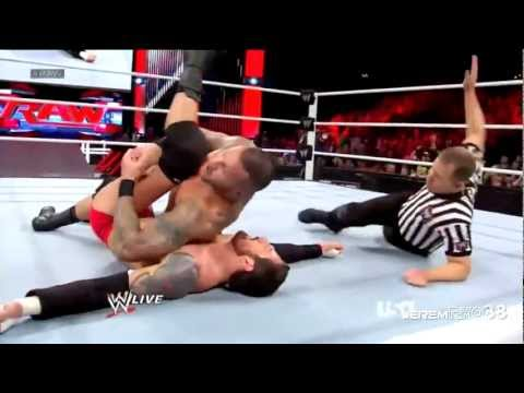 Randy Orton RKO on Wade Barrett - Raw - February 4, 2013