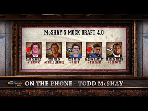 ESPN's Todd McShay: With the 1st Pick Cleveland Selects... | The Dan Patrick Show | 4/17/18