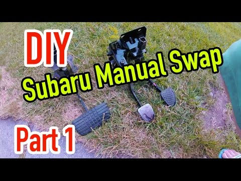 Subaru Manual Swap - Part 1: Pedal swap - Dirtcheapdaily : Ep.22