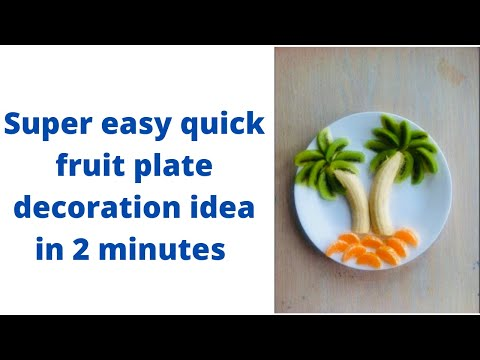 Fruit decoration in 2 minutes / Quick dessert