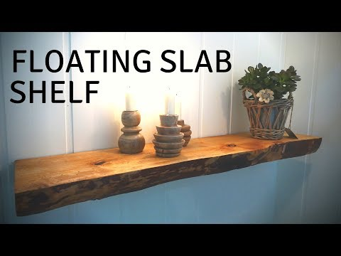 Making a Floating Slab Shelf // Baloni Woodworks