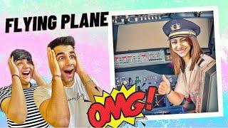 FLYING PLANE WITH BROTHER & SISTER CHALLENGE | Rimorav Vlogs