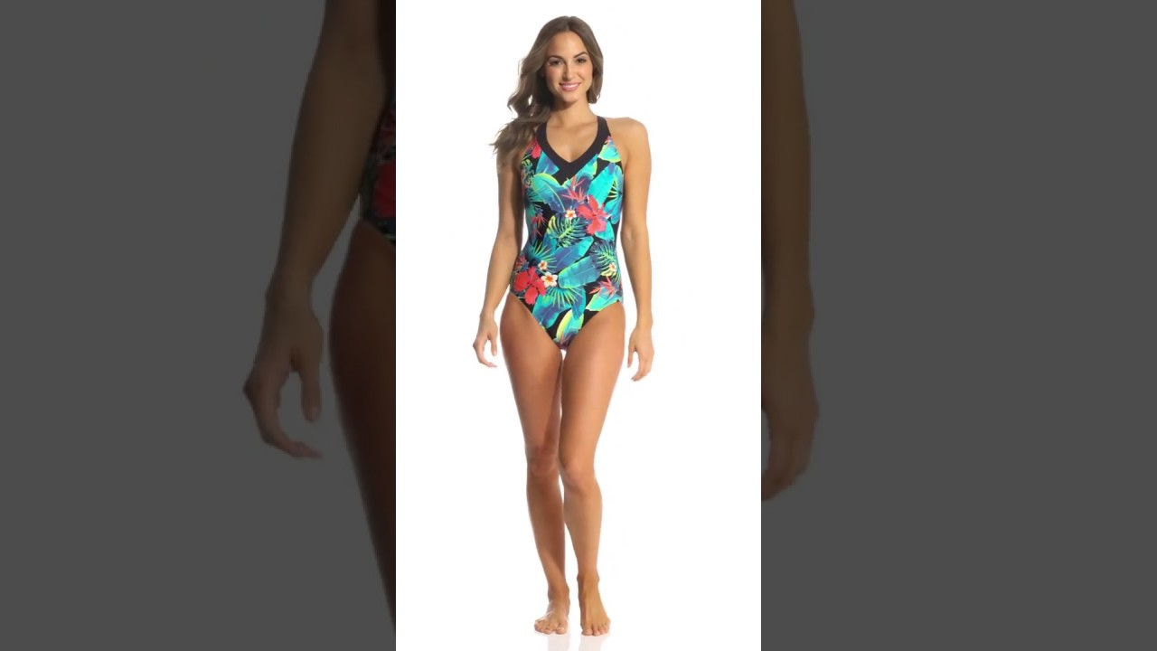 official photos new arrivals nice shoes Amoena Palmeira Mastectomy One Piece Swimsuit   SwimOutlet.com