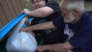 THE GARBAGE FIGHT WITH ANGRY GRANDPA!