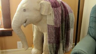 Paper Mache Baby Elephant Sculpture - How to Make It