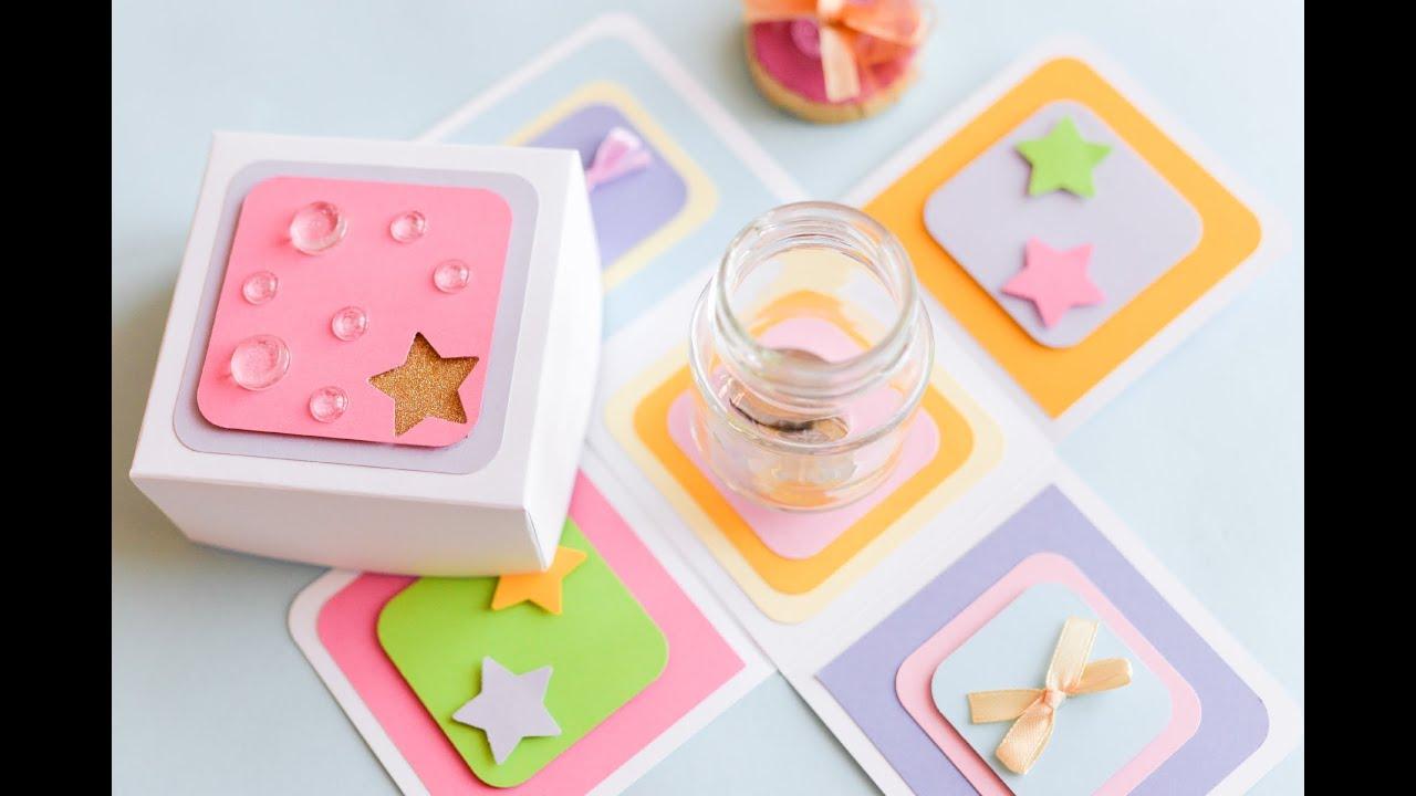 How to Make - Exploding Box Birthday Jar Moneybox - Step ...