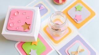 How to Make - Exploding Box Birthday Jar Moneybox - Step by Step | Eksplodujące Pudełko Skarbonka