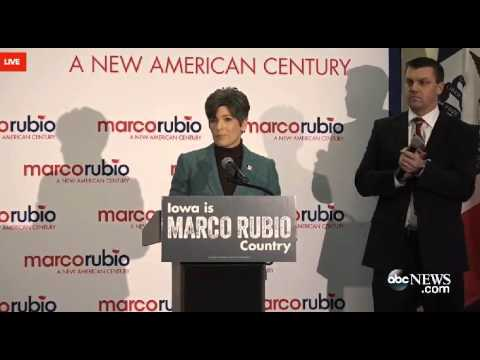 Sen. Joni Ernst Introduces Marco In Des Moines | Marco Rubio for President