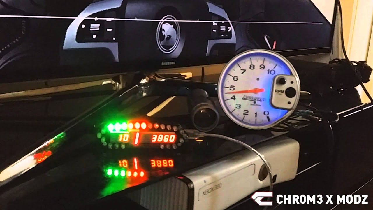 Chr m modz forza real autometer tacho led speed
