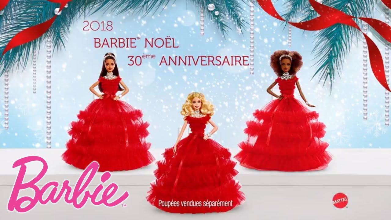 Barbie Noel 2018 Barbie de Noël 30e Anniversaire | FRN69 | @Barbie Français   YouTube