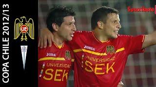 Unión Española 6-1 Universidad Católica - Fase de Grupos Copa Chile 2012 - Goles