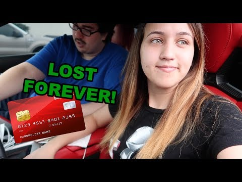 I LOST MY CREDIT CARD!!
