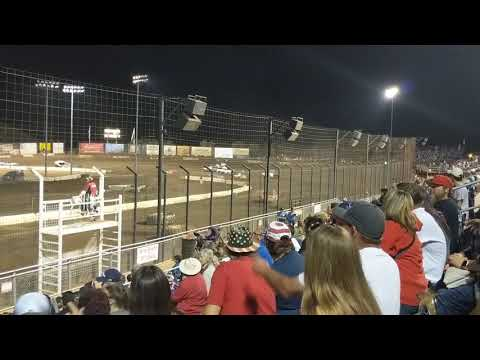 7-4-2019 Perris Auto Speedway Demo cross main. #92 truck