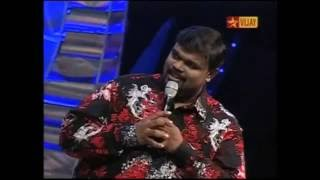 Ps.Alwin Thomas in Airtel Super singer.