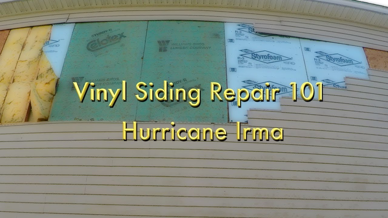 Vinyl Siding Wind Damage Repair Youtube