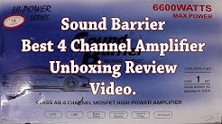 Sound Barrier SB-725 HP Best 4 Channel Amplifier Unboxing and Review video