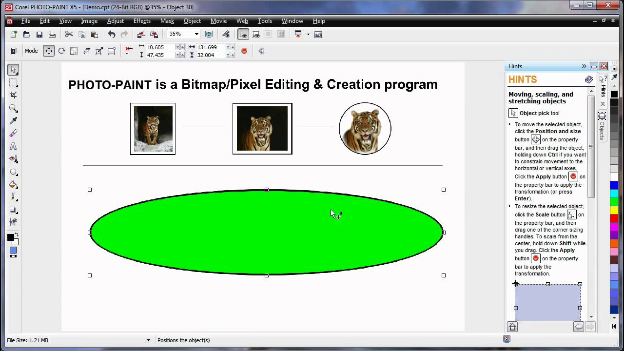 En 09 learning the basics corel photo paint x5 part 1 of 2 en 09 learning the basics corel photo paint x5 part 1 of 2 coreldraw graphics suite x5 youtube baditri Image collections