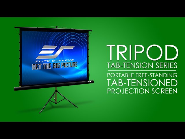 Elite Screens Tripod Tab-Tension Series - Portable Free-Standing Tripod Projection Screen