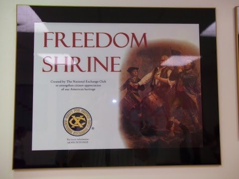 "Indian Hill School ""Freedom Shrine"" Dedication"
