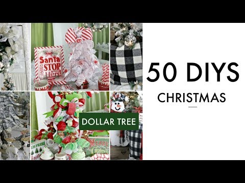 "🎄50 DIY DOLLAR TREE CHRISTMAS DECOR CRAFTS 2019🎄Dollar Tree ""I Love Christmas""  DIY"