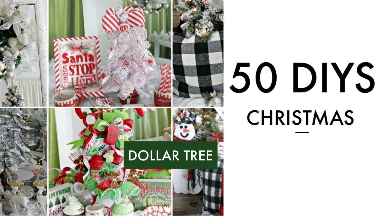 50 Diy Dollar Tree Christmas Decor Crafts 2019 Dollar Tree I Love Christmas Diy Youtube