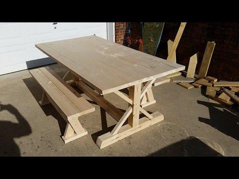 How to build a farm table youtube for Build your own farmhouse