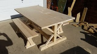 How To Build A Farm Table.