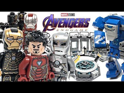 LEGO Avengers Endgame Iron Man Hall of Armour review! 2019 set 76125!