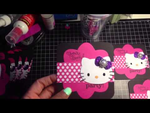 Hello kitty invitations template free full video of hello kitty birthday invitations for cortlyn by claude margaret solutioingenieria Images