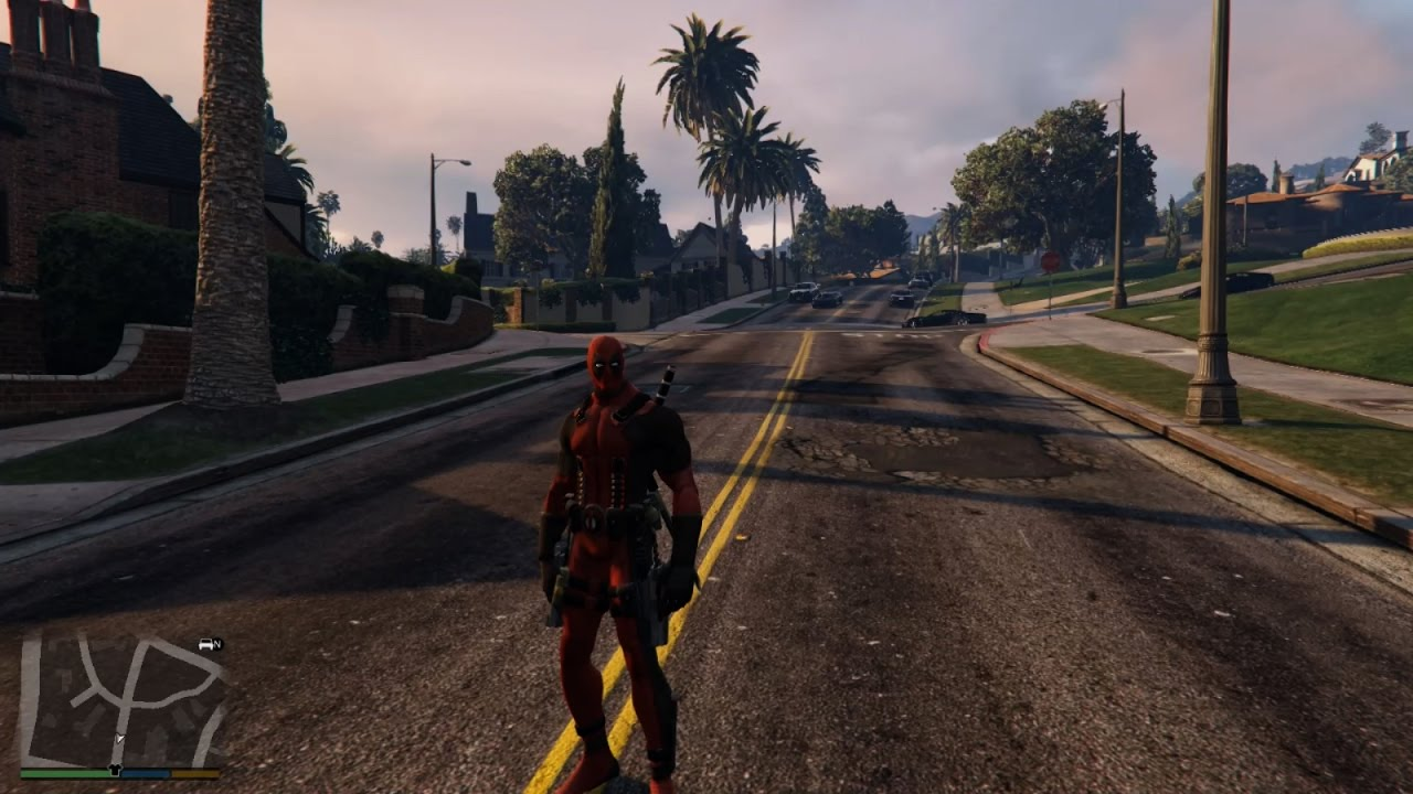 GTA-5 How to install Ped Selector and add-on-ped (Deadpool , Predator,  Black Panther skins)