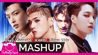 ATEEZ /SUPERM /KARD ft. STRAY KIDS - ' WONDERLAND / JOPPING / DUMB Litty' ft Miroh KPOP MASHUP 2019 mp3