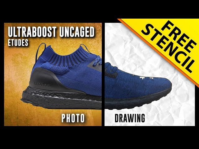 detailed look 67c25 a0f83 Études x Adidas Ultra Boost Uncaged - Sneaker Drawing w ...