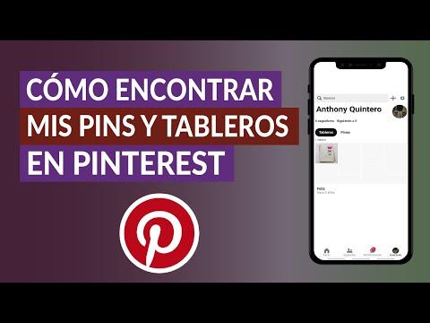 Cómo Encontrar y ver mis Pines y Tableros Guardados en Pinterest