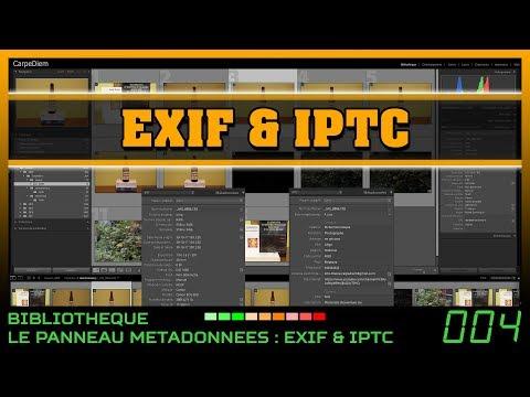 Lightroom : les métadonnées EXIF & IPTC