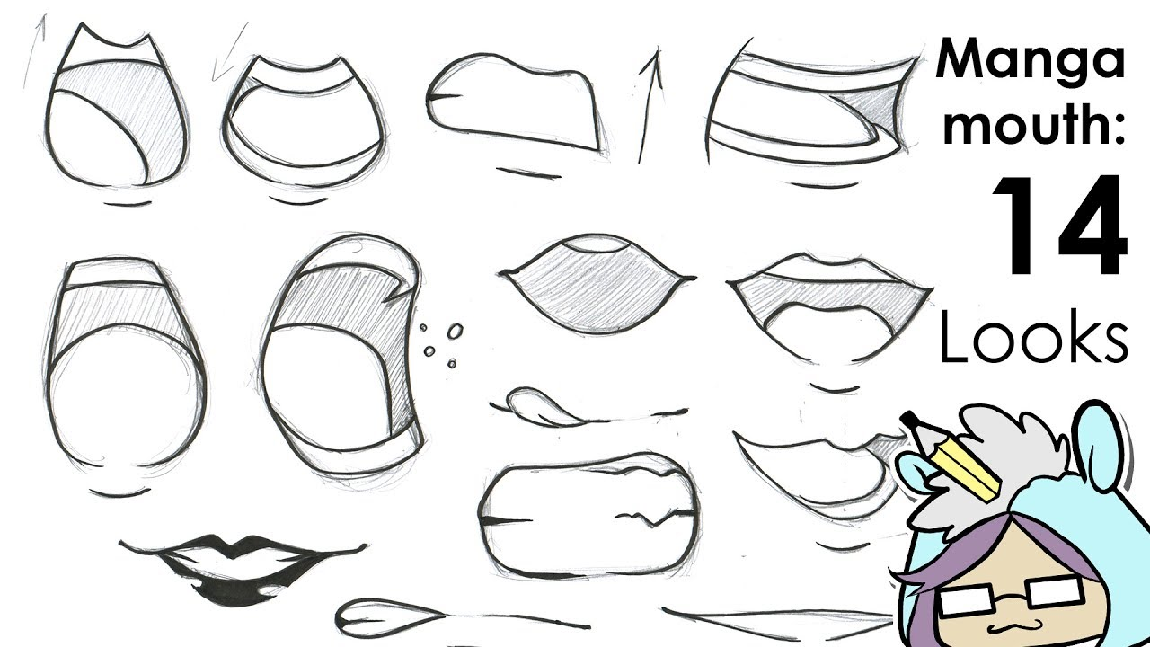 How To Draw A Anime Mouth