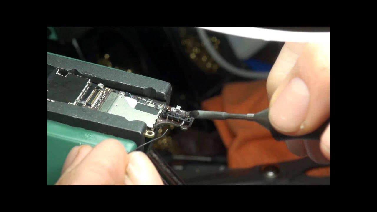 Schemi Elettrici Iphone : Apple iphone s saldatura connettore batteria ponticelli piste